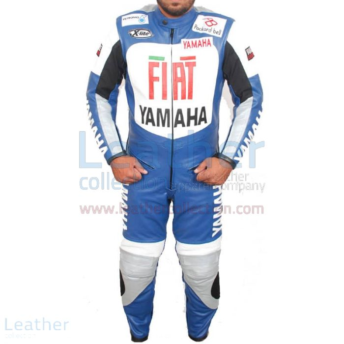 Yamaha FIAT Motorcycle Racing Leather Suit front view