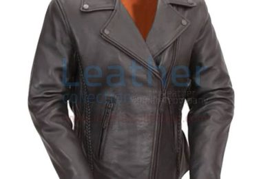 HOURGLASS LEATHER BIKER JACKET WOMENS