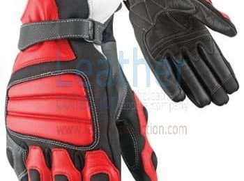 TOURIST RED MOTO GLOVES LEATHER