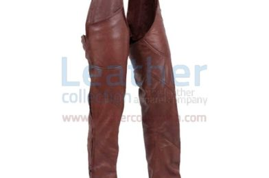 ANTIQUE BROWN MOTORCYCLE LEATHER CHAPS