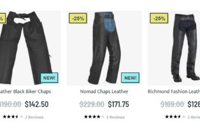 Mens motorcycle chaps