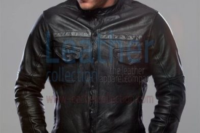 Mens leather shirt jacket
