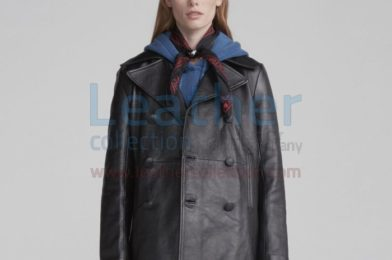 Leather Peacoat