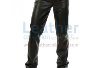 Leather jeans for men